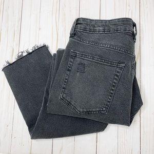 H&M Jeans - H&M Divided Black Washed Denim Distressed Jeans 8